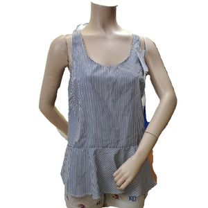 Other - Asymmetrical Youth Striped Sleeveless Top